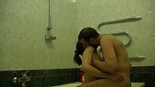 Hot sex in the bathroom