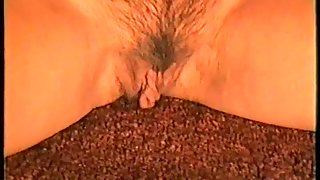 Finger in her pussy cupping breasts and fingering moist cunt