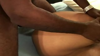 Busty mexican wifey double penetrated during black on white 3some