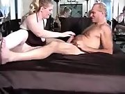 Busty cuckold wife having fuck-a-thon with a hairy man