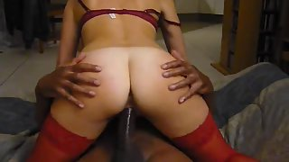 Gorgeous milf with a super-sexy bod bounces on a big black cock