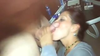 Wife showing off her skills at a party