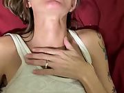 Skinny granny quickie internal ejaculation before bed