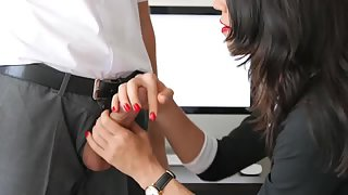 I get a handjob at work during lunch break