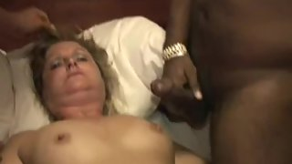 Swinger mommy interracial romp with new accomplices in hotel