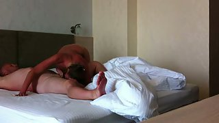 Watch us screwing around in the bedroom having sex together