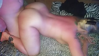 Mizzdelicious gets ravaged doggie-style by her man's pal