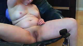 My girlfriend snatch and tits on her webcam