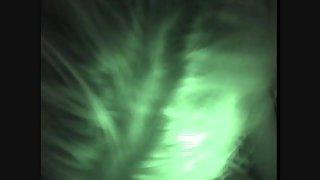 Beautiful tramp recorded on night vision camera throating beau
