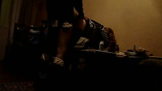 Quickie romp bent over up against a wall pumping her full