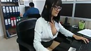 Korean housewife office slut secretly masturbates in private show