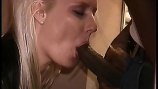 Stellar blonde strip taunt fucking dark-hued wanting to feel their bigger cock and taste cum