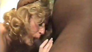 Mature towheaded cuckold wife taking on 3 bbc's and husband