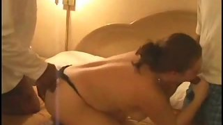 A super-steamy stunning young slut dream jizz true having a steamy 3 sum