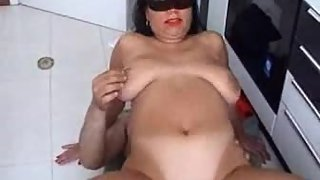 Hefty funbag italian wife gets naughty with her lover