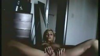 My wife masturbating for me on the floor hot blonde wife