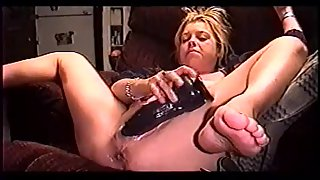 Wife slut spreading legs and dildoing her wet cunt
