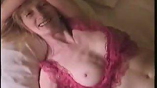 Our granny caught masturbating in the bedroom