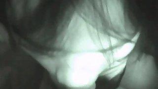 Night vision camera asian girl blowjob and pummel pov home porno